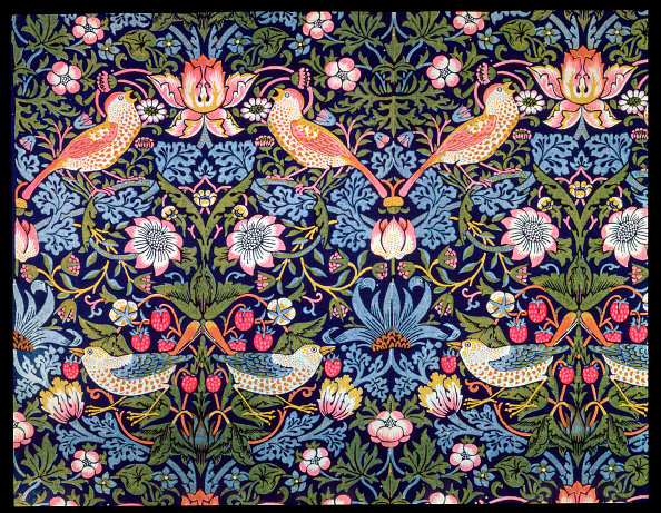 Pattern「The Strawberry Thief' Textile Designed By William Morris 1883」:写真・画像(10)[壁紙.com]