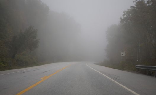 Fog「foggy road in countryside」:スマホ壁紙(5)