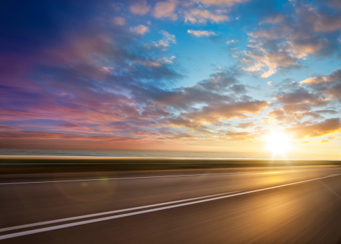 Dividing Line - Road Marking「Ocean Sunset Road」:スマホ壁紙(16)