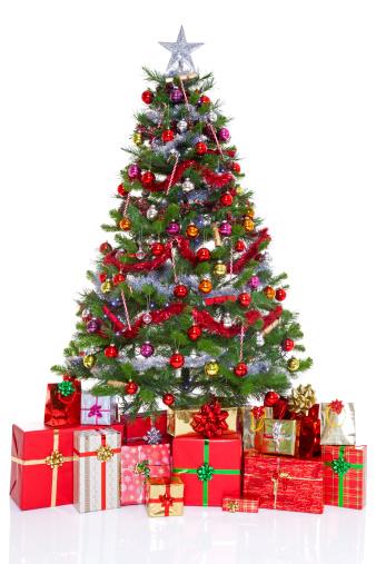 クリスマスツリー「Decorated christmas tree and presents」:スマホ壁紙(8)