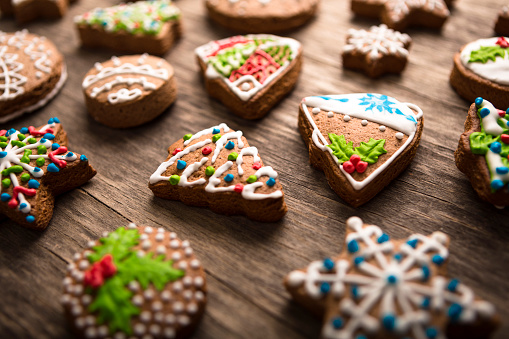 Gingerbread Cake「Decorated Christmas gingerbread cookies」:スマホ壁紙(12)