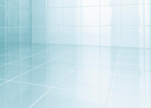 Illustration「White tiles in bathroom」:スマホ壁紙(12)