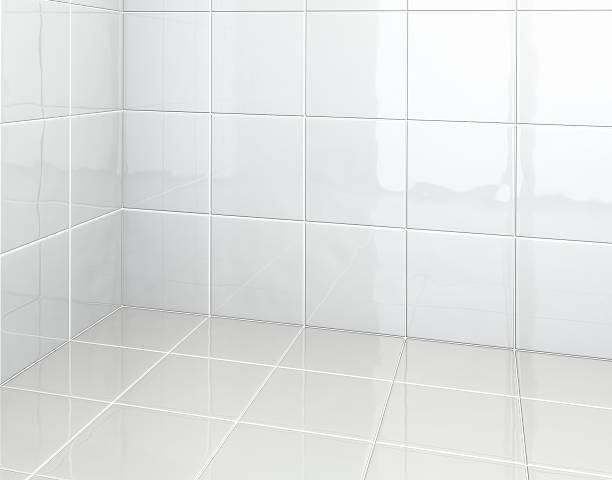白いタイルのバスルーム:スマホ壁紙(壁紙.com)
