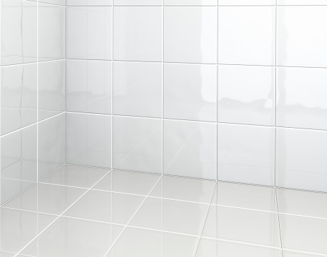 Ceramics「White Tiles in bathroom」:スマホ壁紙(6)