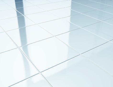 Ceramics「White tiles on a floor in bathroom」:スマホ壁紙(9)