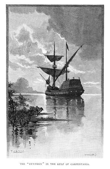 Arafura Sea「The 'Duyfken' in the Gulf of Carpentaria, Australia, 1606 (1886).Artist: W Mollier」:写真・画像(2)[壁紙.com]