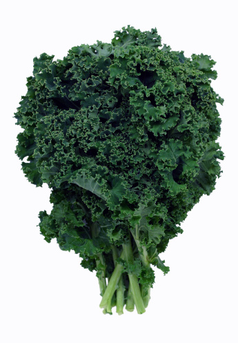 Kale「Bushel of green kale on white background」:スマホ壁紙(15)