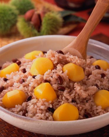 栗「Steamed Red Bean Rice with Chestnuts」:スマホ壁紙(2)