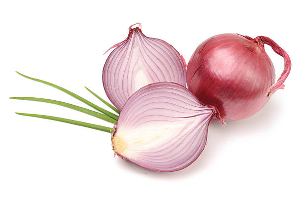 Red or Purple Organic Onions Isolated:スマホ壁紙(壁紙.com)
