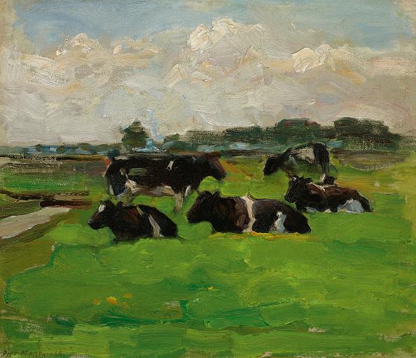 Mondrian Hotel「Polder Landscape With Cows C1901-1902」:写真・画像(8)[壁紙.com]