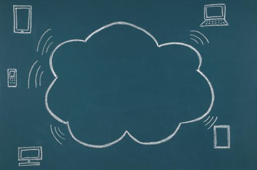 Chalk - Art Equipment「Cloud Computing Concept」:スマホ壁紙(11)