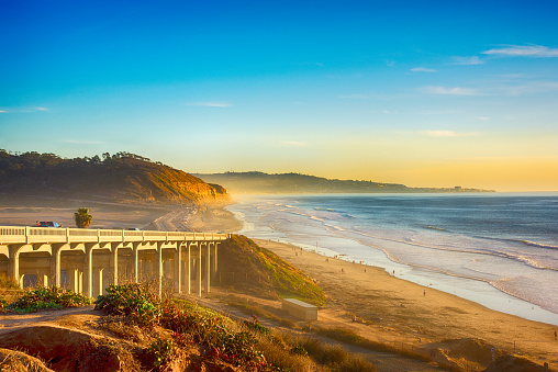 Sunset sea「Pacific Coast Highway 101 in Del Mar」:スマホ壁紙(16)