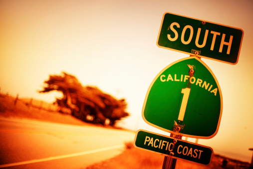 California State Route 1「Pacific Coast Highway Road Sign」:スマホ壁紙(7)