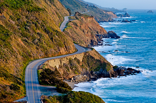 Big Sur「Pacific Coast Highway at Sunset」:スマホ壁紙(9)