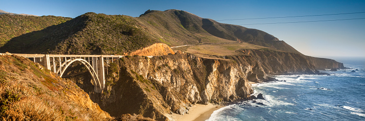 Big Sur「Pacific Coast Highway panoramic in Big Sur California USA」:スマホ壁紙(17)