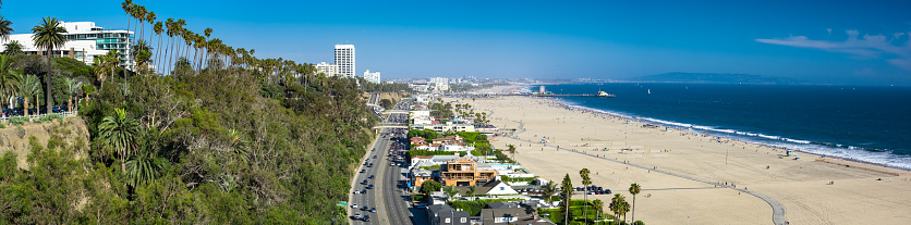 California State Route 1「Pacific Coast Highway in Santa Monica - Aerial Panorama」:スマホ壁紙(5)