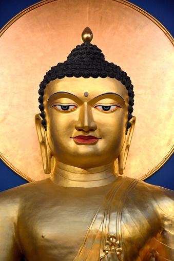 Buddha statue「Gautama Siddharta, sakyamuni buddha statue in Lerab Ling buddhist monastery」:スマホ壁紙(18)