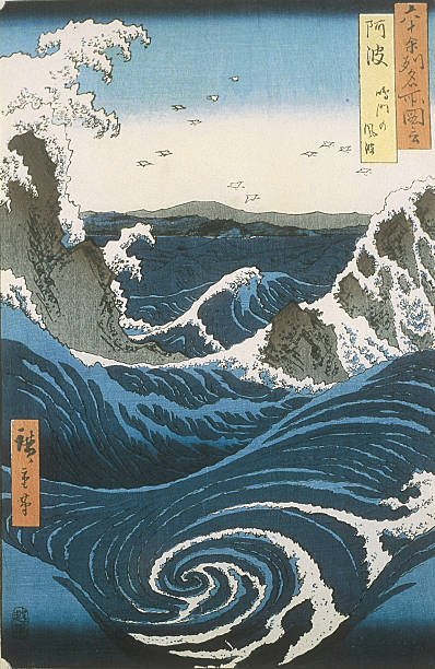 The Naruto whirlpools in Awa Province From the series Famous Views of the 60-odd Provinces, ca 18:ニュース(壁紙.com)