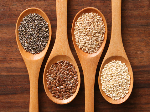 Dietary Fiber「Spoons and healthy seeds」:スマホ壁紙(19)