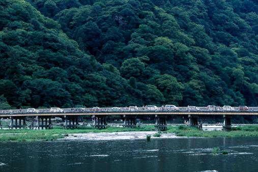 京都市「Katsura River and Togetsukyo Bridge」:スマホ壁紙(1)