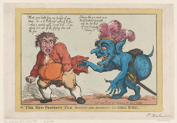 Paying「The New Property Tax Paying His Respects To John Bull」:写真・画像(7)[壁紙.com]