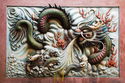 Dragon「Wall panel with fierce sea dragon in Nghia An Hoi Quan Pagoda on 678 Nguyen Trai Street in Cholon.」:スマホ壁紙(17)