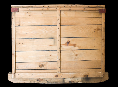 Crate「Wooden packaging crate on a pallet with clipping path.」:スマホ壁紙(19)