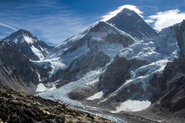 Khumbu Glacier below Mount Everest:スマホ壁紙(壁紙.com)