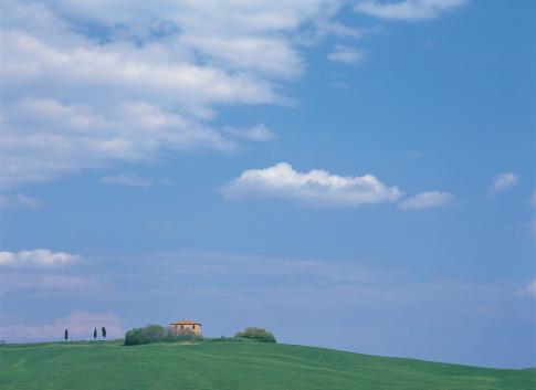 イタリア「Villa, Val D'Orcia, Tuscany, Italy」:スマホ壁紙(7)
