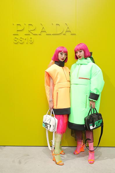 Prada「Prada Spring/Summer 2019 Womenswear Fashion Show Arrivals and Front R」:写真・画像(4)[壁紙.com]