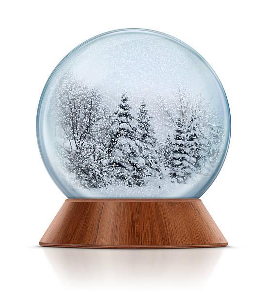 Winter Scene in Snow Globe:スマホ壁紙(壁紙.com)