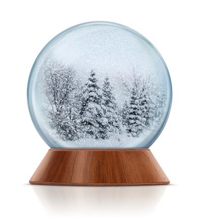 Fir Tree「Winter Scene in Snow Globe」:スマホ壁紙(6)