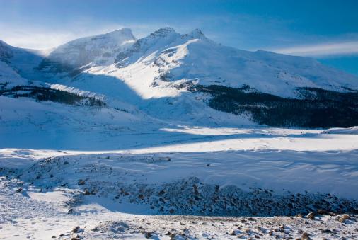 Snowdrift「Winter scene near Sunwapta Pass and the Columbia Ice fields, Jasper National Park , Alberta, Canada」:スマホ壁紙(8)