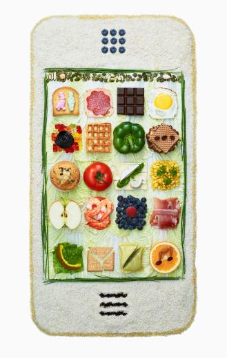 Blackberry - Fruit「Food arranged in the form of a smart phone」:スマホ壁紙(3)