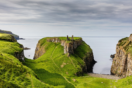 Castle「Dunseverick Northern Ireland Causeway Road Coastal Landscape」:スマホ壁紙(0)