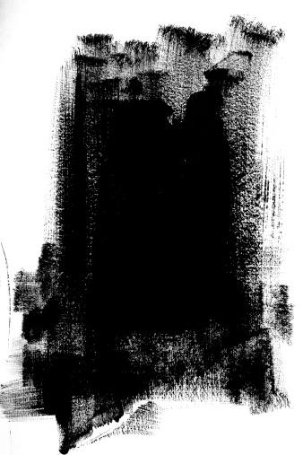 Brush Stroke「Black Paint」:スマホ壁紙(4)