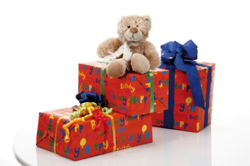 ぬいぐるみ「Teddy bear on gift parcels」:スマホ壁紙(6)