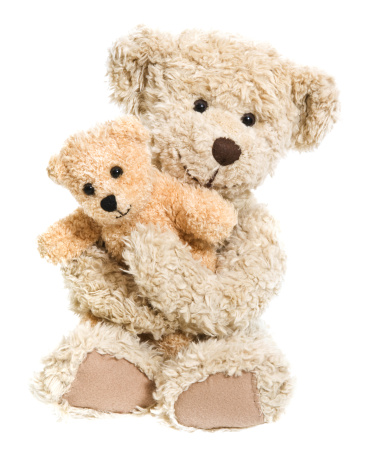 Sitting「Teddy Bear Hug Isolated on White」:スマホ壁紙(18)