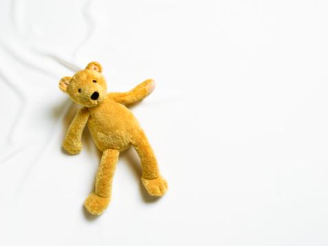 Stuffed Animals「Teddy bear on white background.」:スマホ壁紙(6)