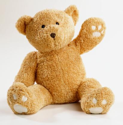 ぬいぐるみ「Teddy bear waving」:スマホ壁紙(2)