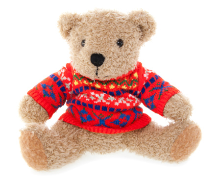Sweater「Teddy Bear in Red Sweater」:スマホ壁紙(1)