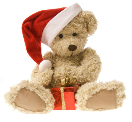 Doll「Teddy Bear Opening Christmas Gift」:スマホ壁紙(14)