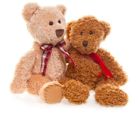 Doll「Teddy Bear Friends Isolated on White」:スマホ壁紙(11)