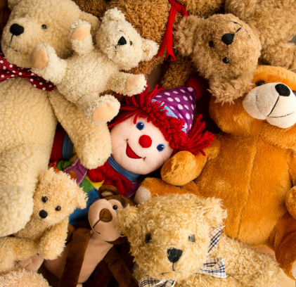 Doll「Teddy Bear and Stuffed Animals Background」:スマホ壁紙(10)