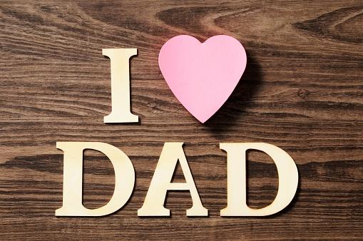 父の日「I love dad」:スマホ壁紙(17)