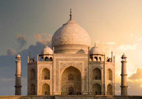 Mausoleum「India, Uttar Pradesh, Agra, Taj Mahal, dawn」:スマホ壁紙(3)