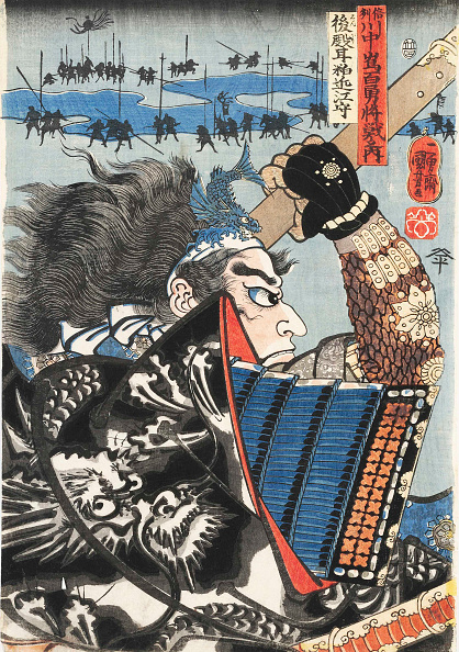 Illustration Technique「Amakasu Omi No Kami  The Battle Of Kawanakajima」:写真・画像(5)[壁紙.com]