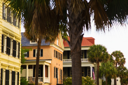 Charleston - South Carolina「USA, South Carolina, Charleston, Houses in residential district」:スマホ壁紙(7)