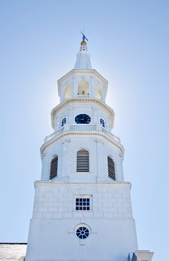 Charleston - South Carolina「USA, South Carolina, Charleston, Church tower against clear sky」:スマホ壁紙(6)