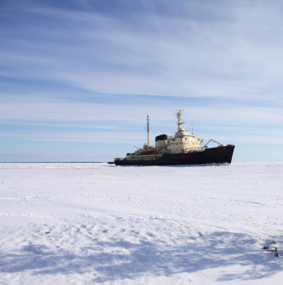 Pack Ice「icebreaker in icefield polar area」:スマホ壁紙(9)